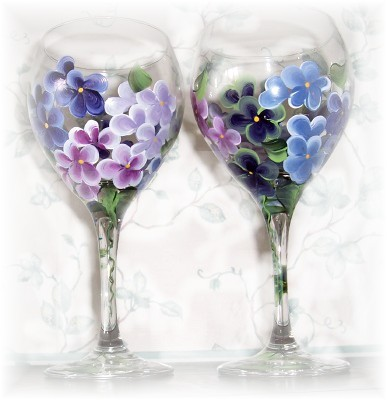 Hydrangea Wine Goblet
