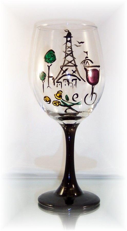 Loving Paris on our 20 Ounce All Purpose Wine Goblet