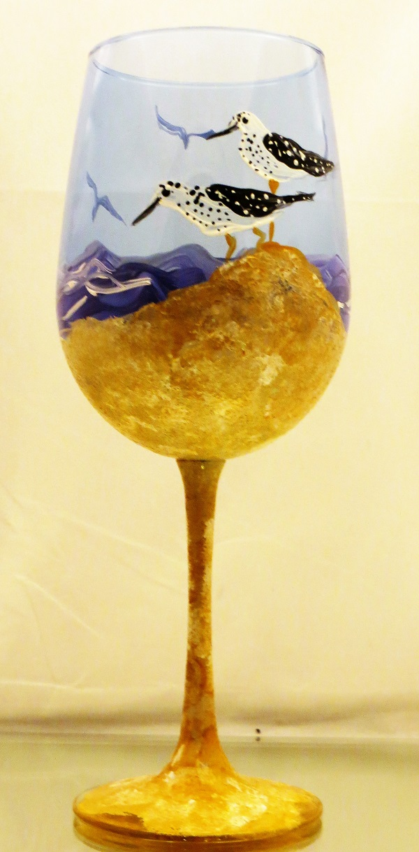 Birds on the Beach 20 oz.  wine goblet-FREE SHIPPING!
