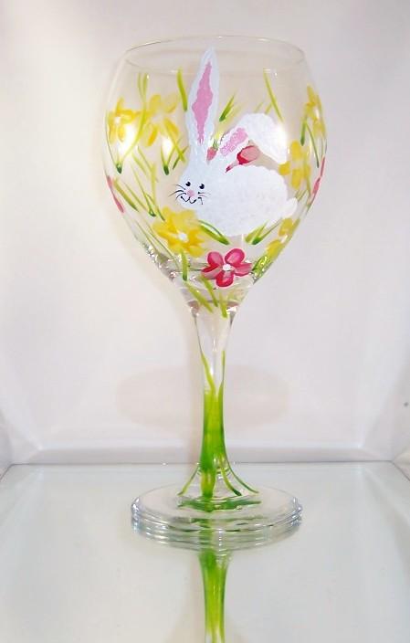 Bunny on 20 Ounce Balloon Goblet-FREE SHIPPING!