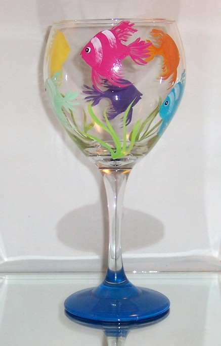Drink like a Fish Balloon Wine Goblet