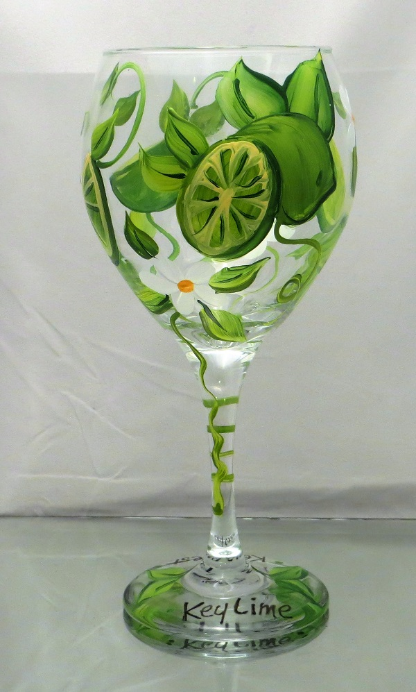 Key West - Key Lime Balloon Wine Goblet