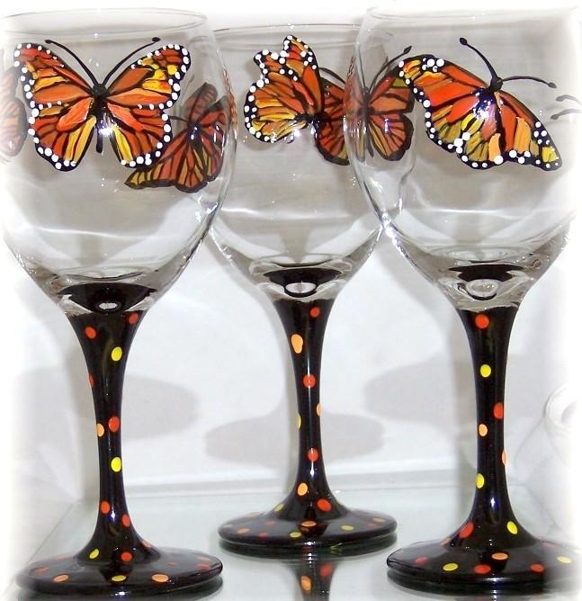 Monarch Butterfly Goblet