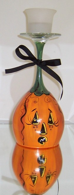 Upside Down Jack o Lantern and Candle holder