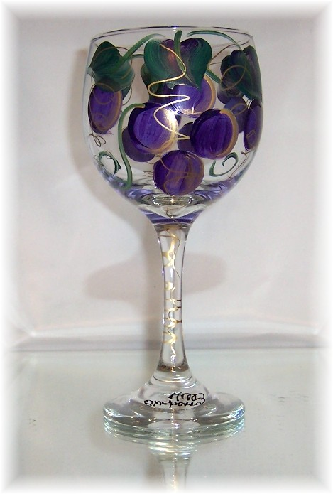 Purple Grape Wine Tasting Glass