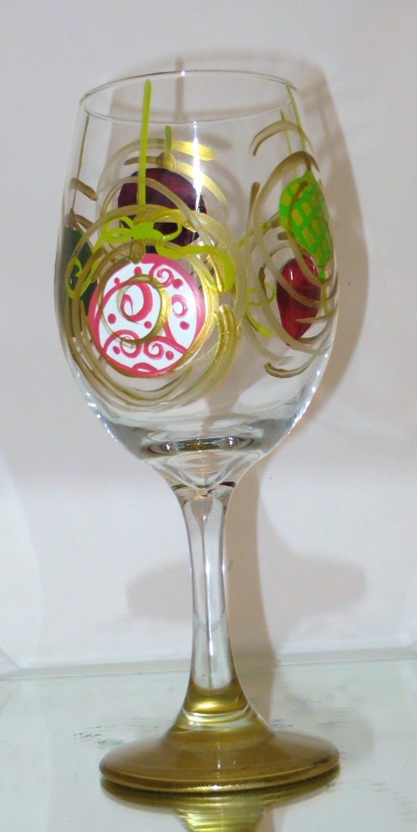 Ornaments Christmas Wine Glass