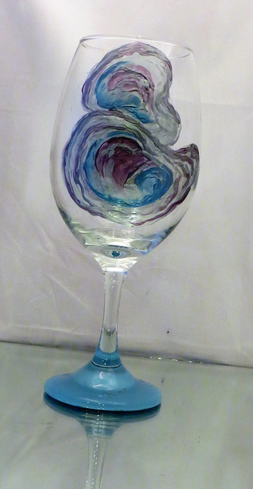 Oysters in the Shell 21 ounce wine glass-FREE SHIPPING!