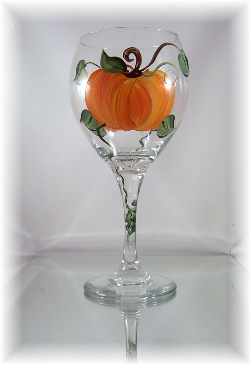 Great Pumpkin Balloon Wine Goblet
