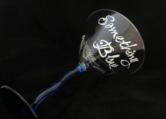 Something Blue Martini Glass